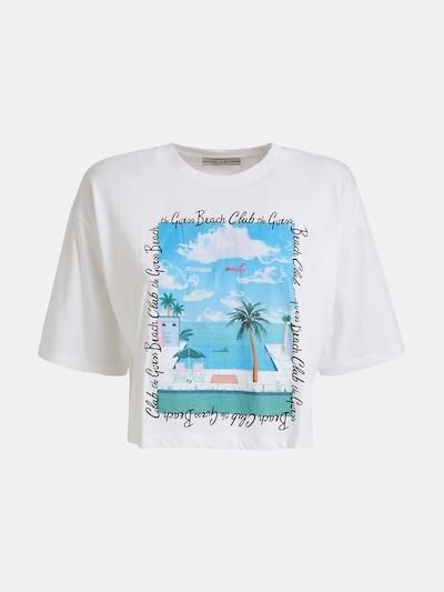 GUESS T-Shirt in blau / weiß, Produktansicht