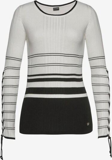 BRUNO BANANI Pullover in creme / schwarz, Produktansicht