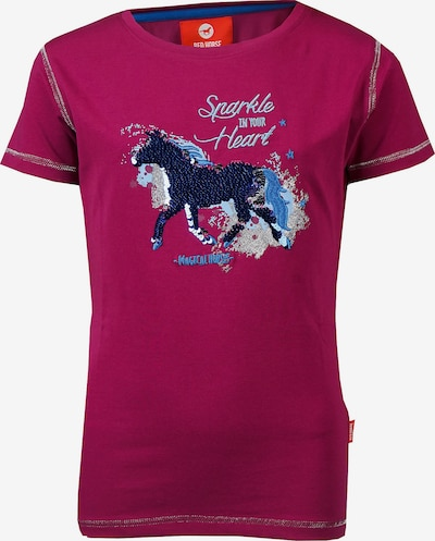 RED HORSE Shirt 'CALIBER' in blau / dunkelpink, Produktansicht