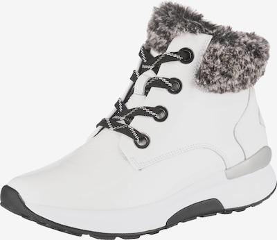 GABOR Schnürstiefeletten in schwarz / weiß, Produktansicht