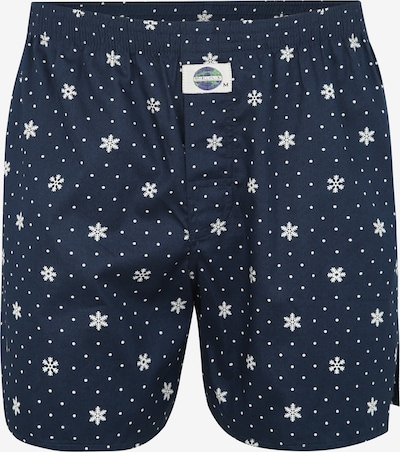 D.E.A.L International Boxershorts 'Print' in de kleur Blauw / Wit, Productweergave
