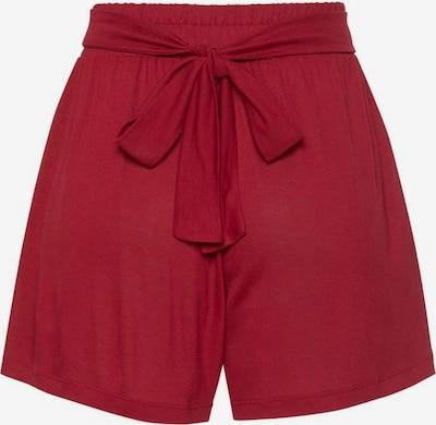 LASCANA Shorts in dunkelrot, Produktansicht