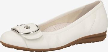 GABOR Ballet Flats in White