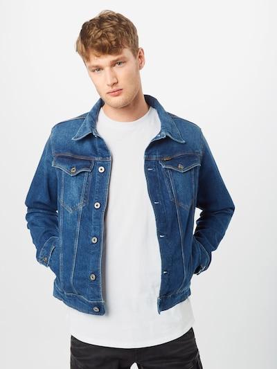 G-Star RAW Prijelazna jakna u plavi traper: Prednji pogled