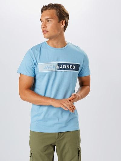 JACK & JONES Tričko 'Codope' - světlemodrá / tmavě modrá / bílá: Pohled zepředu