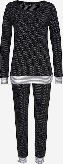 VIVANCE Dreams Pyjama mit Pünktchen und gestreiftem Bund in schwarz / weiß, Produktansicht