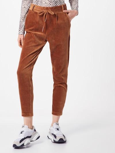 karamell ONLY Élére vasalt nadrágok 'POPTRASH-PING PONG', Modell nézet