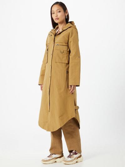 Palton de primăvară-toamnă 'Stacy' Cecilie Copenhagen pe kaki: Privire frontală