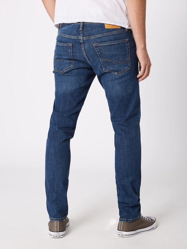JACK & JONES Jeans 'Glenn Original AM 814 Noos' in blue denim: Rückansicht