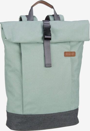 ZWEI Kurierrucksack 'Benno BE250' in grau / mint, Produktansicht