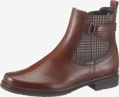 GABOR Chelsea Boots in braun / grau / rot, Produktansicht