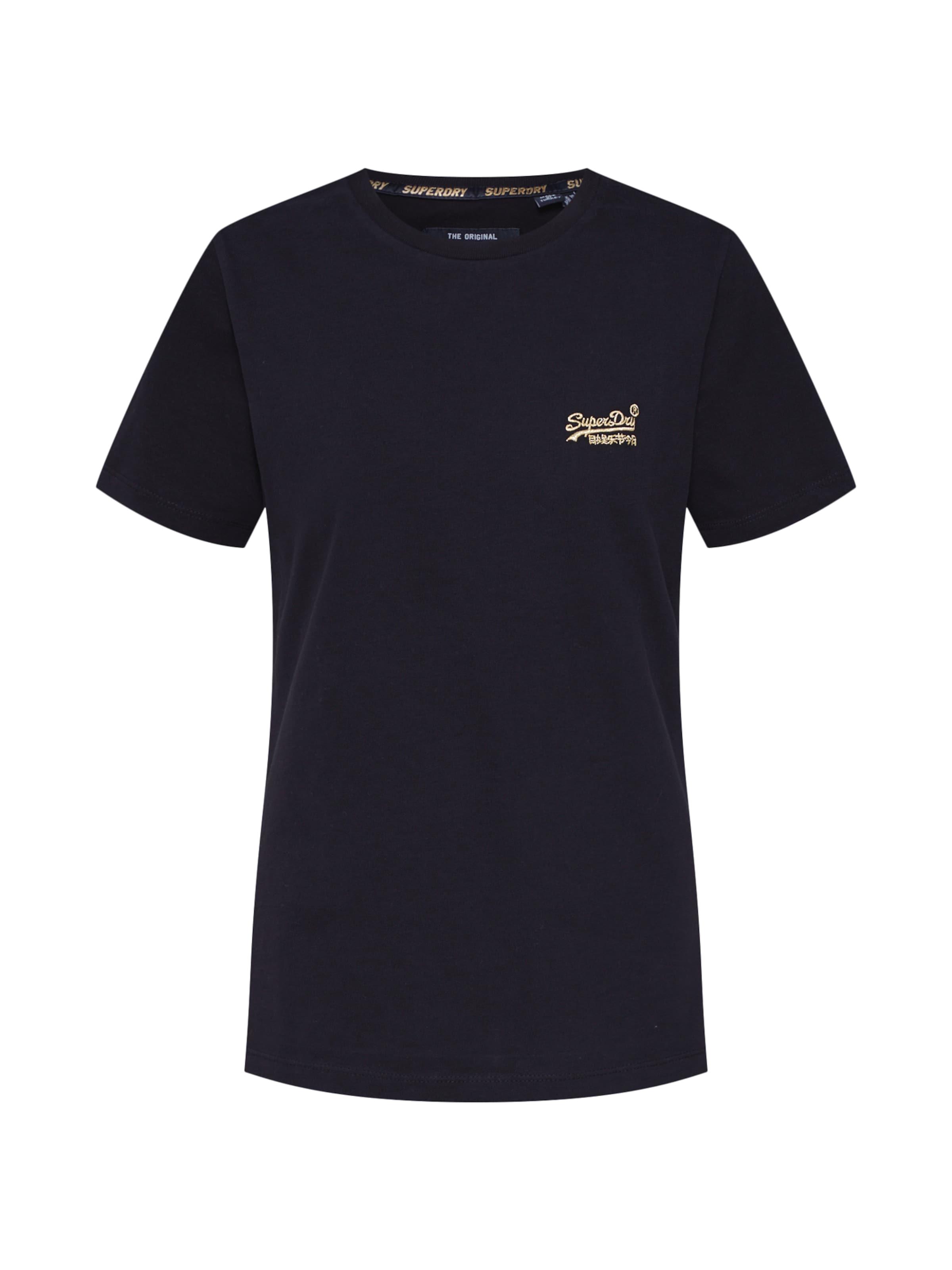 In Schwarz Orange Tee' Elite Superdry Label 'core Shirt OXuiPZk