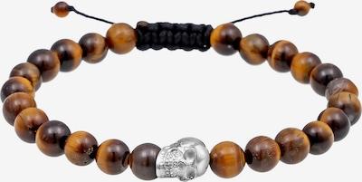 PAULO FANELLO Bracelet en marron chiné / argent, Vue avec produit
