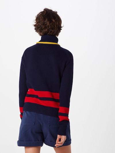 POLO RALPH LAUREN Sweter w kolorze granatowy / żółty / czerwonym: Widok od tyłu