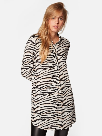 Mavi Bluse in schwarz / weiß, Modelansicht