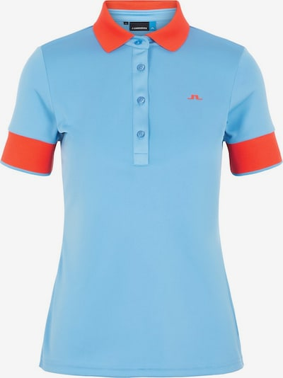J.Lindeberg Lexie Poloshirt in blau / rot, Produktansicht