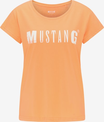 MUSTANG T-Shirt ' Alina C Logo ' in orange, Produktansicht