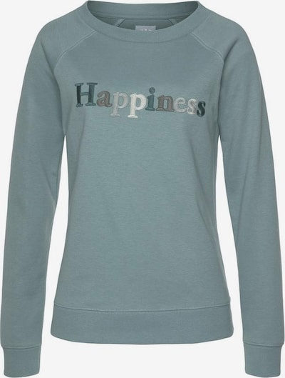 HIS JEANS Sweatshirt in Grey / Emerald / Mint / White, Item view