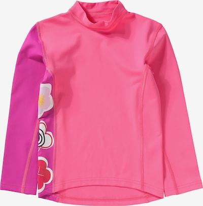 HYPHEN Schwimmshirt in mischfarben / neonpink, Produktansicht