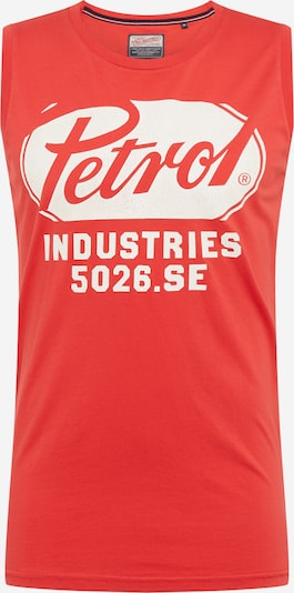 Petrol Industries Shirt in de kleur Rood / Wit, Productweergave