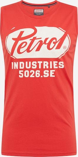 Petrol Industries Tank Top in rot / weiß, Produktansicht