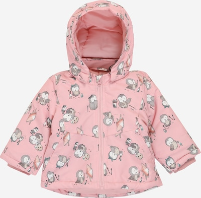 NAME IT Jacke 'MAXI' in grau / rosa / weiß, Produktansicht