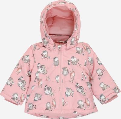 NAME IT Přechodná bunda 'MAXI' - šedá / růžová / bílá, Produkt