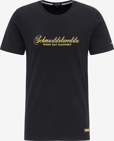 Schmuddelwedda T-Shirt in gelb / schwarz, Produktansicht