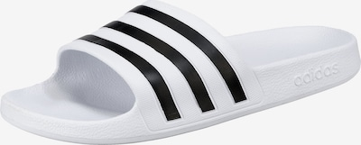 ADIDAS PERFORMANCE Beach & swim shoe 'Adilette Aqua' in black / white, Item view