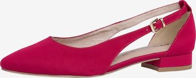 TAMARIS Ballerines à lanières en rouge, Vue avec produit