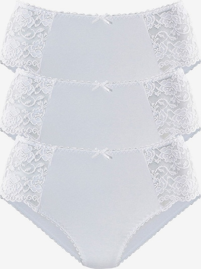 PETITE FLEUR Midislip mit Spitzeneinsatz in weiß, Produktansicht