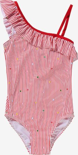 NAME IT Badeanzug 'NKFZINITA' in mischfarben / rot / pastellrot / weiß, Produktansicht