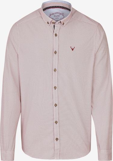 PURE Trachtenhemd in rot / weiß, Produktansicht