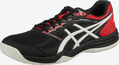 ASICS Sportschuh 'Upcourt 4' in rot / schwarz / weiß, Produktansicht