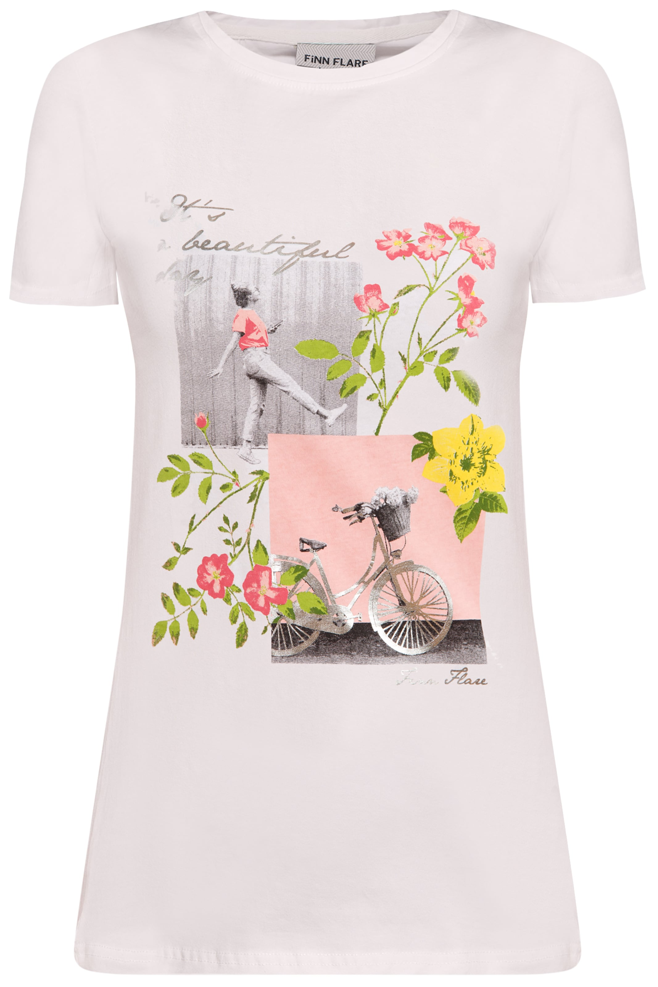 T Finn shirt Weiß Flare In 2YeWE9IDH