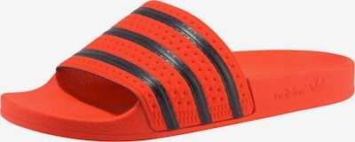 ADIDAS ORIGINALS Pantolette 'Adilette' in orange / schwarz, Produktansicht