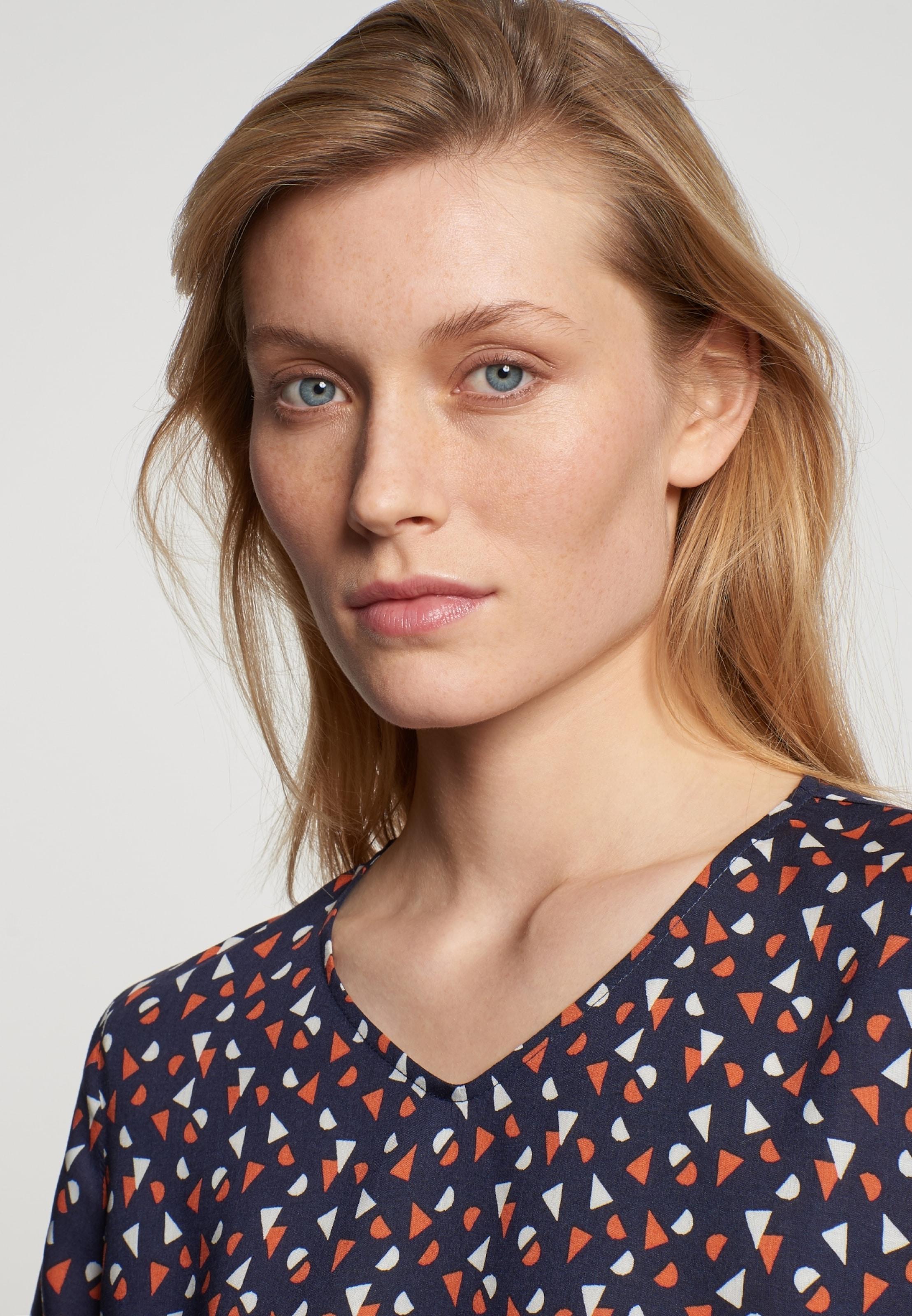 Rose' Seidensticker Blusenshirt 'schwarze In Blau xrBoeWCd