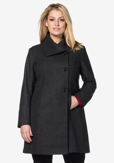 Cappotto di mezza stagione SHEEGO di colore grigio scuro: Vista frontale