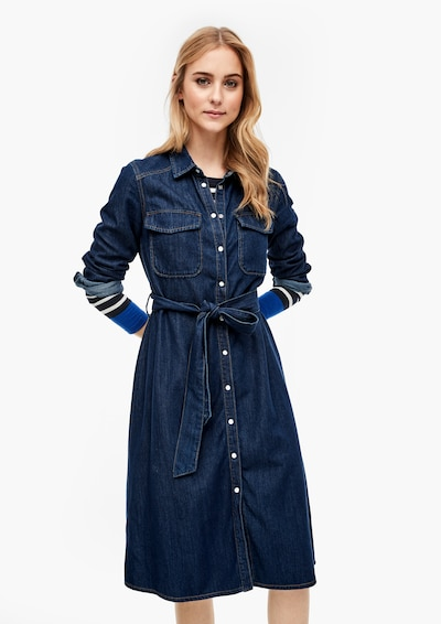s.Oliver Kleid in blue denim, Modelansicht