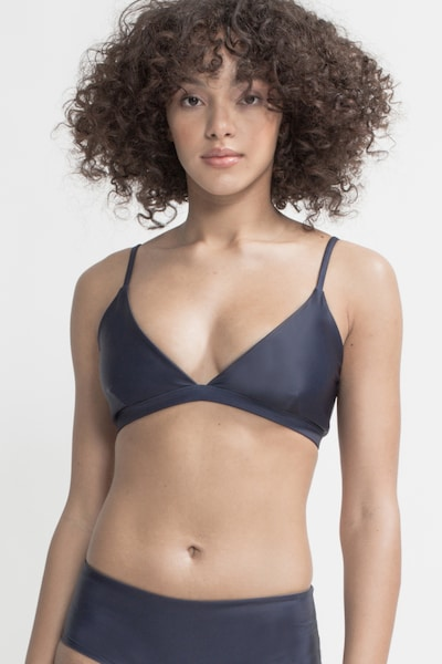 Boochen Bikinitop 'Amami' in dunkelblau / braun, Modelansicht