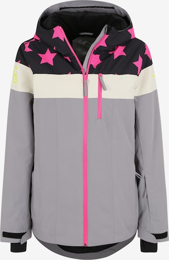 ICEPEAK Sport-Jacke 'CLEARLAKE' in dunkelblau / grau / pink, Produktansicht