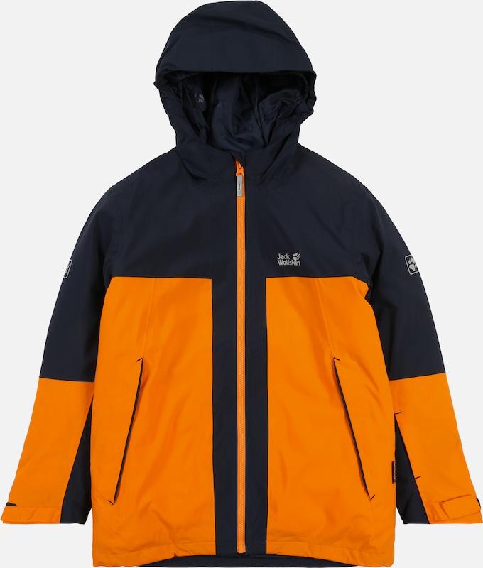 oben Jack Wolfskin Powder Mountain Jacke Jungs rusty orange
