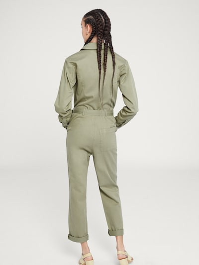 Salopeta 'Cher' EDITED pe verde / kaki: Privire spate