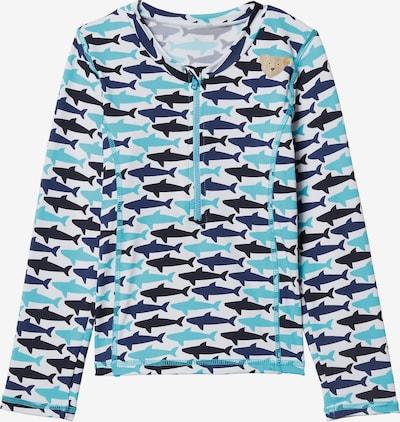 STEIFF Schwimmshirt in nachtblau / aqua / weiß, Produktansicht