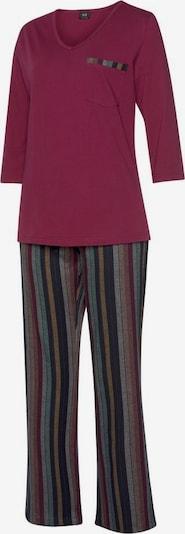 HIS JEANS Pyjama in lila / mischfarben, Produktansicht