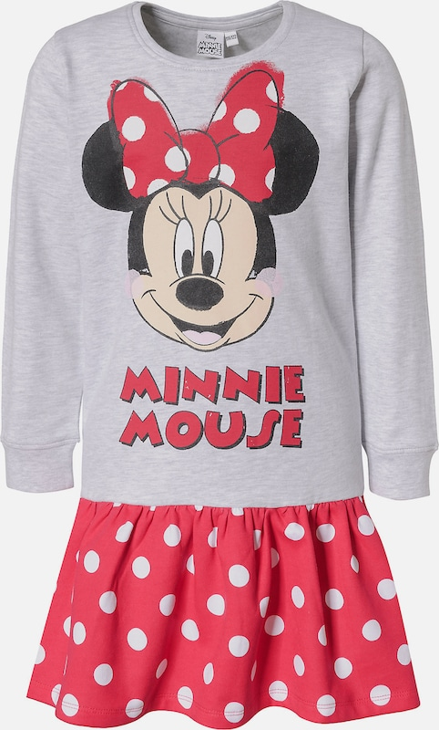 DISNEY Minnie Mouse Sweatkleid in grau, Produktansicht
