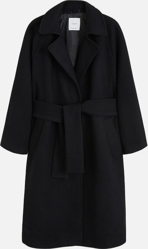MANGO Mantel 'Boy-i' in schwarz  Markenkleidung für Männer und Frauen