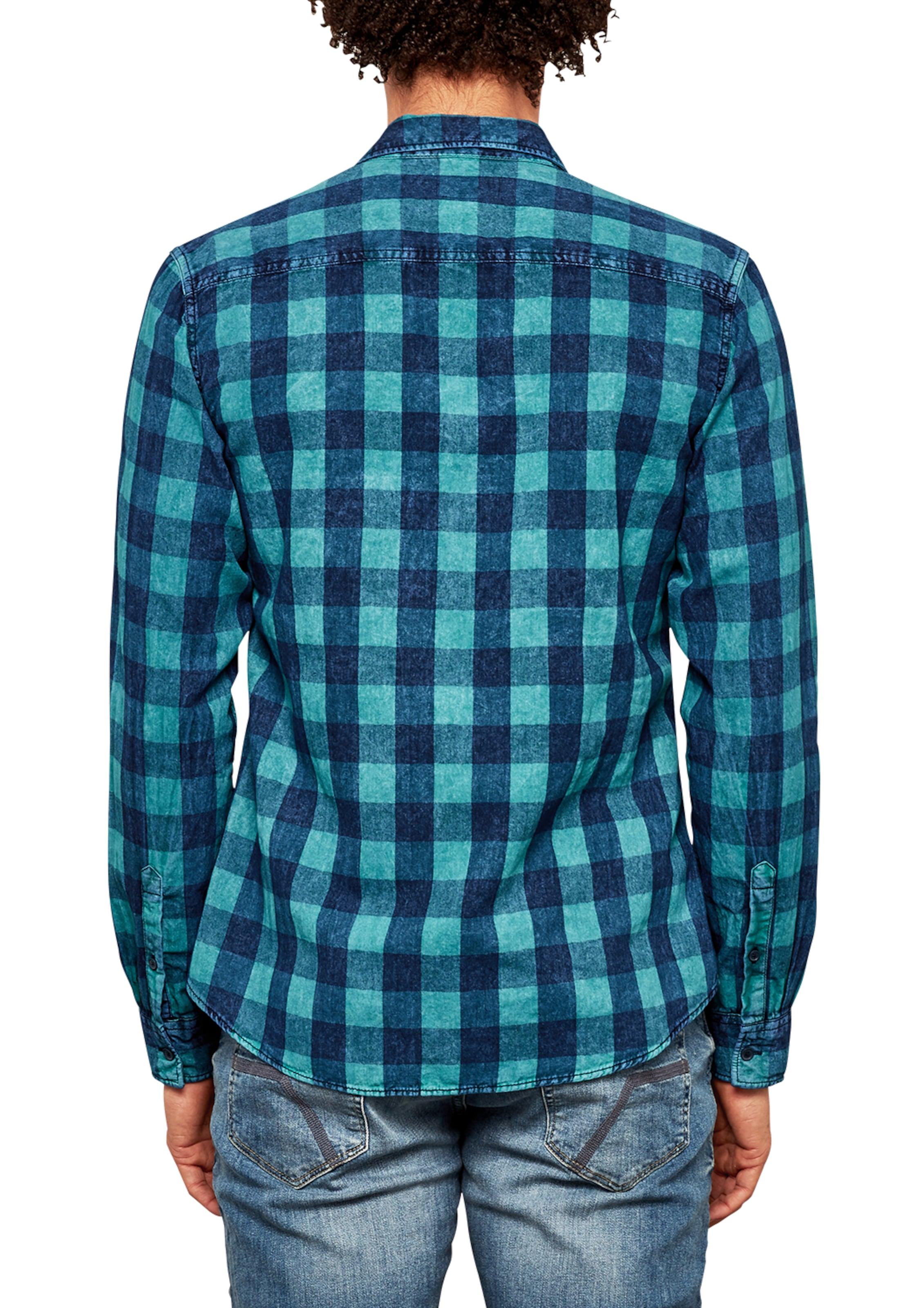 Verkauf Offizielle Freies Verschiffen Footaction Q/S designed by Extra Slim: Hemd mit Karomuster Rabatt In Deutschland Billig Verkauf Bester Platz llLu2lBoTo