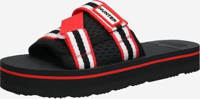 HUNTER Pantofle - červená / černá / bílá, Produkt
