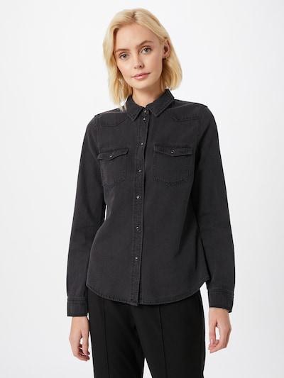 VERO MODA Blus 'Maria' i svart denim, På modell